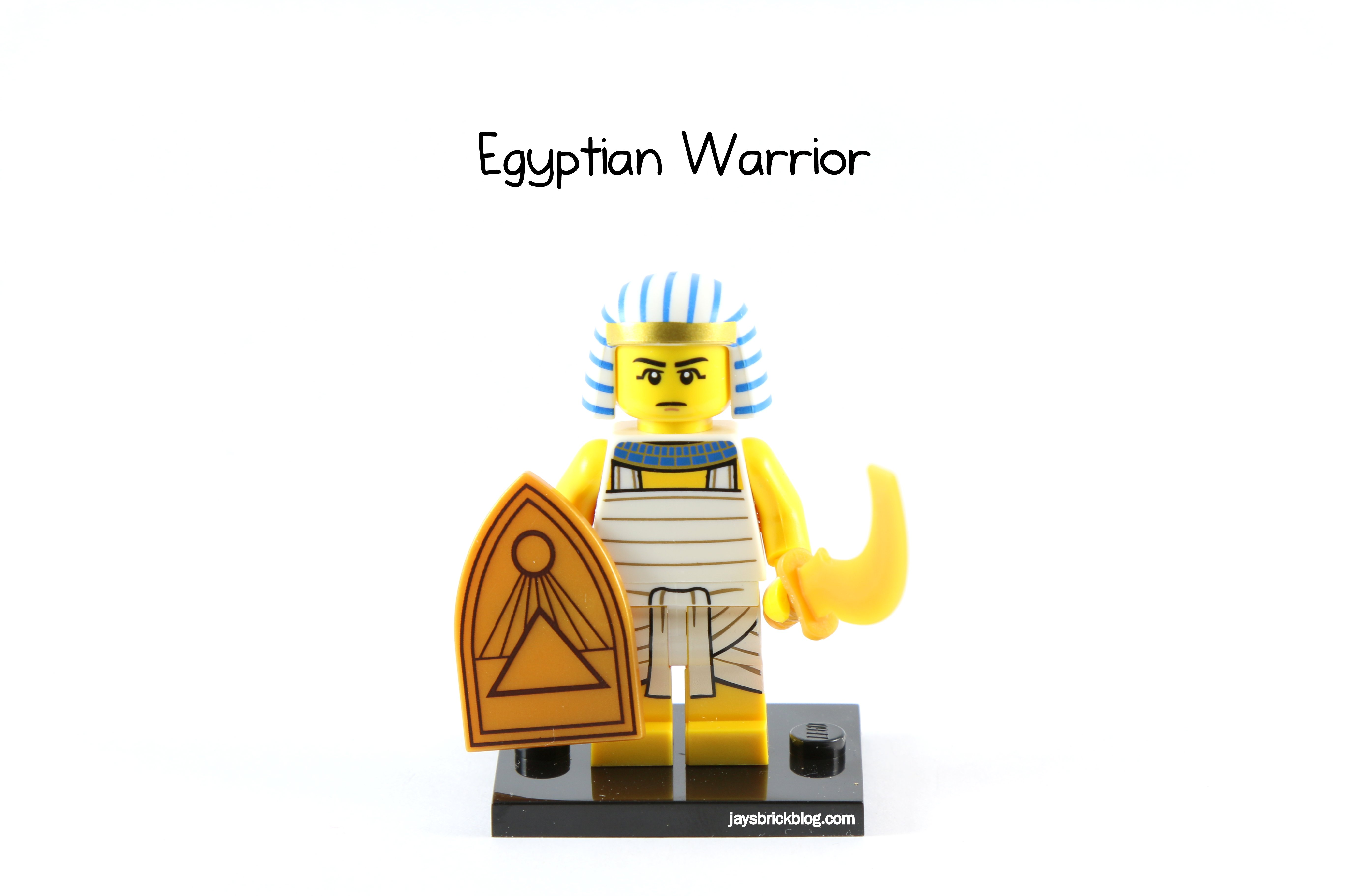 New Genuine LEGO Egyptian Warrior Minifig with Sickle Sword Series 13 71008