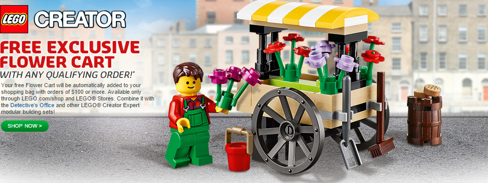 LEGO.com January 2015 Bonus Flower Cart Polybag
