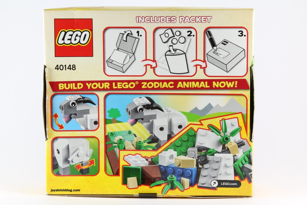LEGO 40148 Lunar New Year 2015 Sheep - Box Back