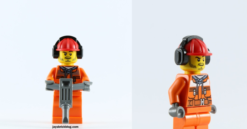 LEGO 60073 Service Truck - Construction Worker Jackhammer Earmuffs