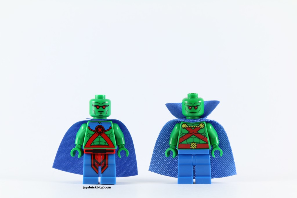 LEGO 76040 Brainiac Attack - Martian Manhunter Comparison