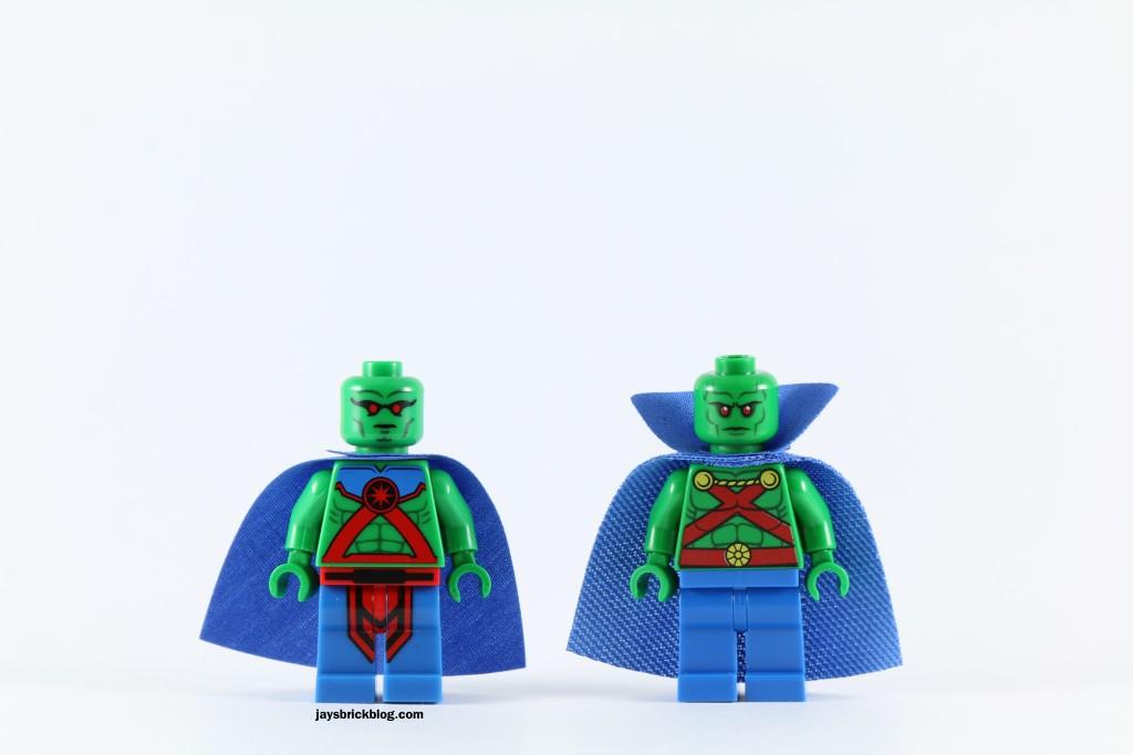 LEGO 76040 Brainiac Attack - Martian Manhunter Comparison
