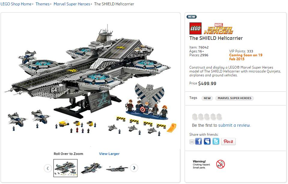 LEGO 76042 UCS SHIELD Helicarrier Australian Price