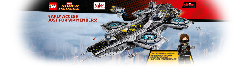 LEGO Helicarrier Early Access Winter Soldier