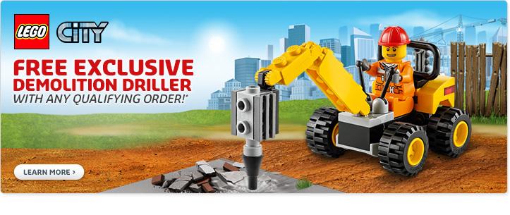 LEGO Shop February Promo Demolitition Driller