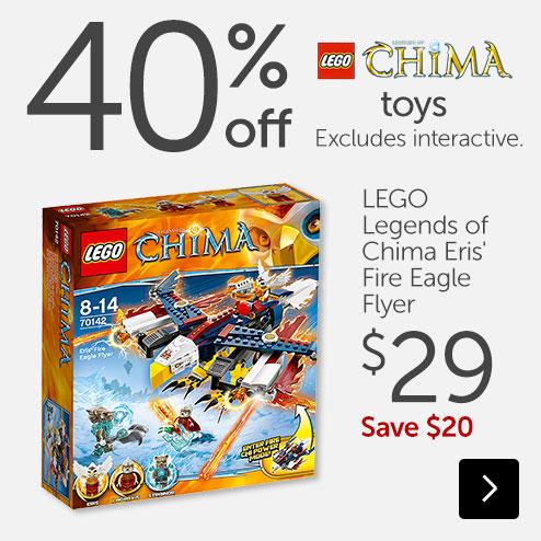 Target 40 percent off Chima