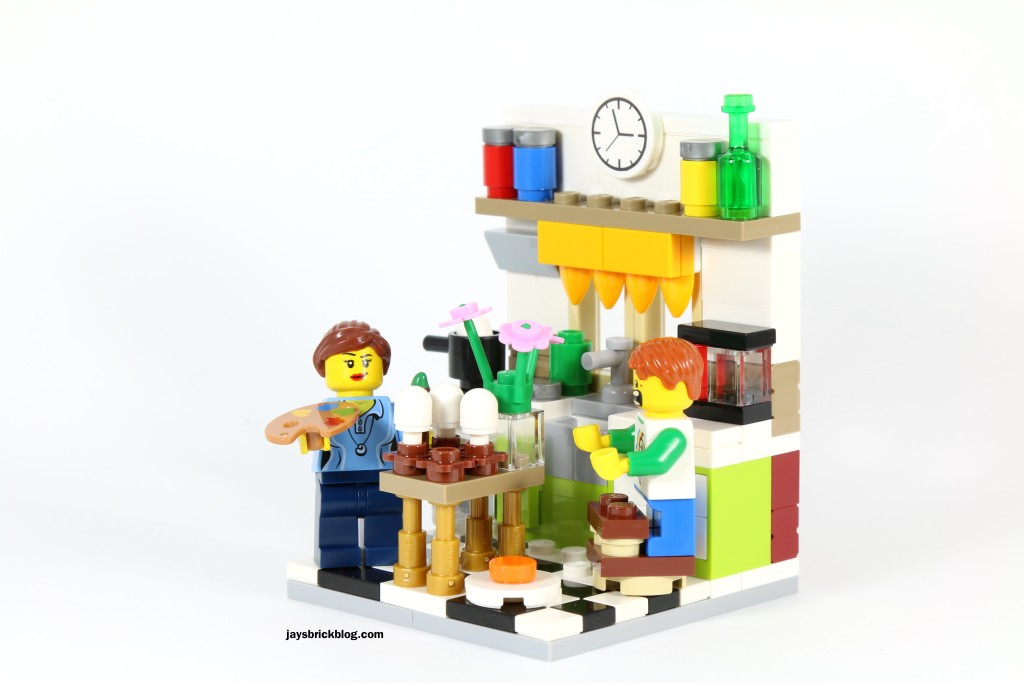 LEGO 40121 Painting Easter Eggs - Kitchen Side View