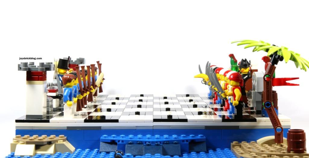 LEGO 40158 Pirates Chess Set - Side View