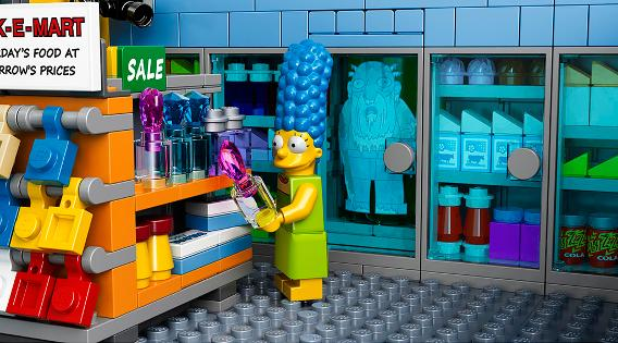 LEGO 71016 Simpsons Kwik E Mart - Marge at Counter