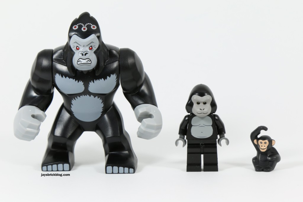LEGO 76027 Gorilla Grodd Goes Bananas - Gorilla Comparison