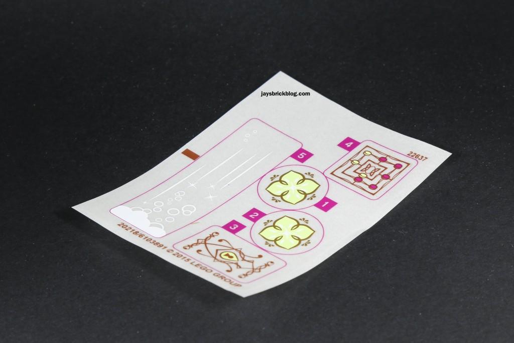 LEGO Elves 41072 Naida's Spa Secret - Sticker Sheet