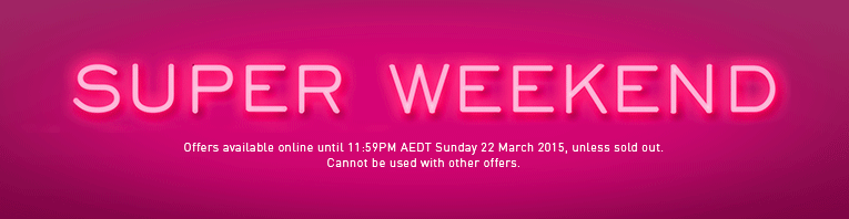 Myer Super Weekend