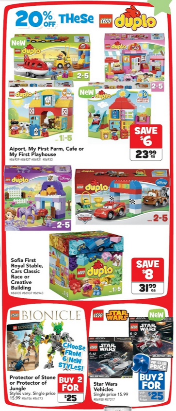 Toys R Us LEGO Sale 18 March - 7 April Bionicle Duplo