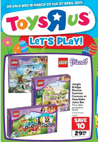 Toys R Us LEGO Sale 18 March - 7 April