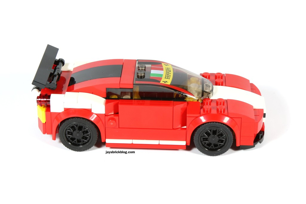 LEGO 75908 - Ferrari 458 Italia GT2 Without Stickers Side View