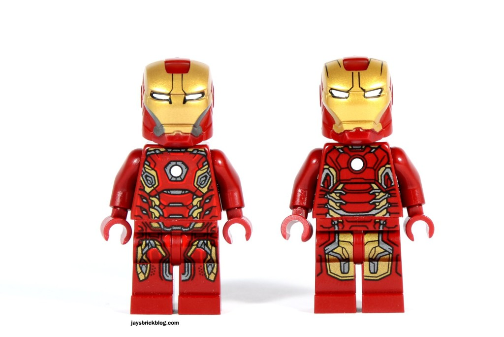 LEGO 76031 - The Hulk Buster Smash - Iron Man Minifigure Comparison