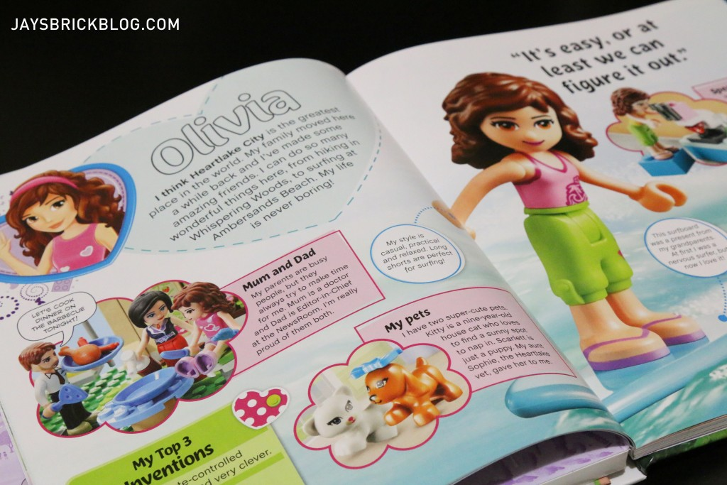 LEGO Friends The Adventure Guide Book - Character Profiles Olivia