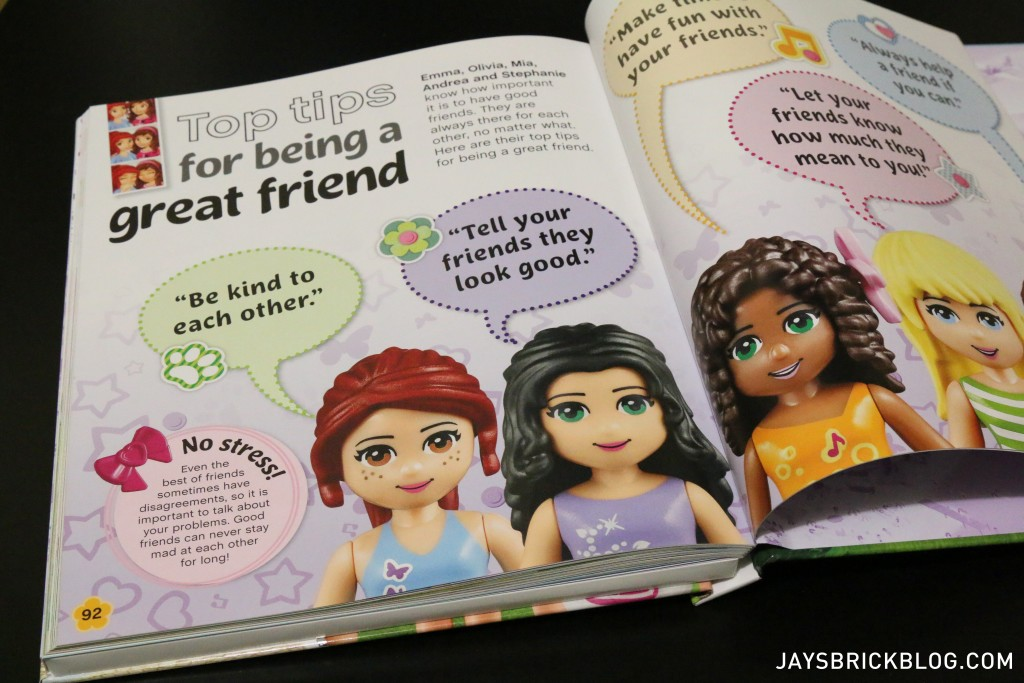 LEGO Friends The Adventure Guide Book - Friendship Tips
