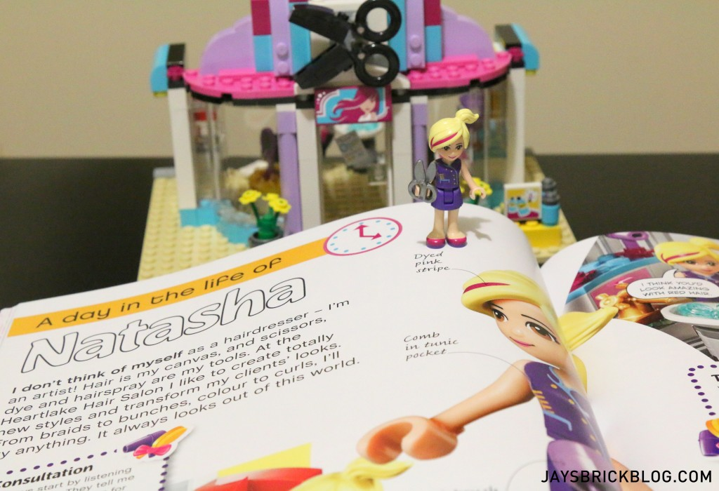 LEGO Friends The Adventure Guide Book - Heartlake Hair Salon Natasha