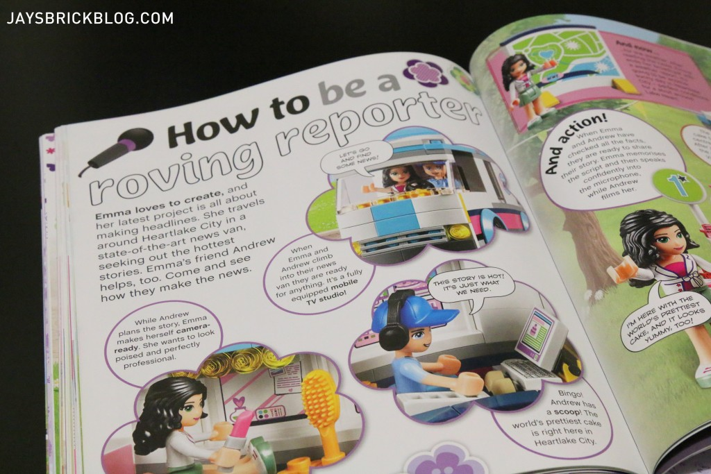 LEGO Friends The Adventure Guide Book - How to be a reporter