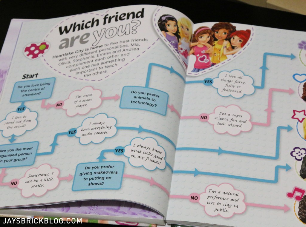 LEGO Friends The Adventure Guide Book - Quiz