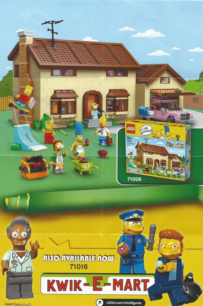 LEGO Kwik E Mart and Simpsons House Advertisement