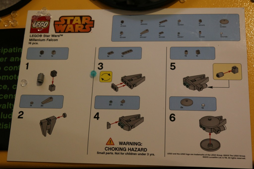 LEGO Micro Millennium Falcon Instructions