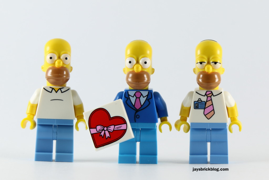 LEGO Simpsons Minifigures Series 2 - Homer Comparison