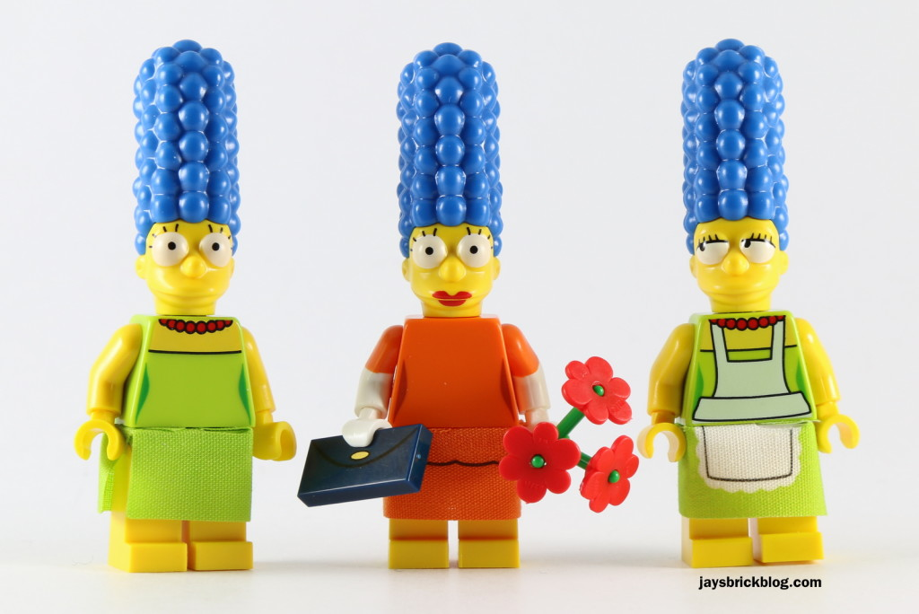 LEGO Simpsons Minifigures Series 2 - Marge Comparison
