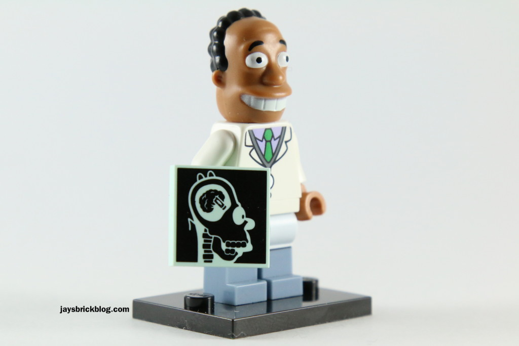LEGO Simpsons Series 2 - Dr Hibbert Minifigure Xray Tile