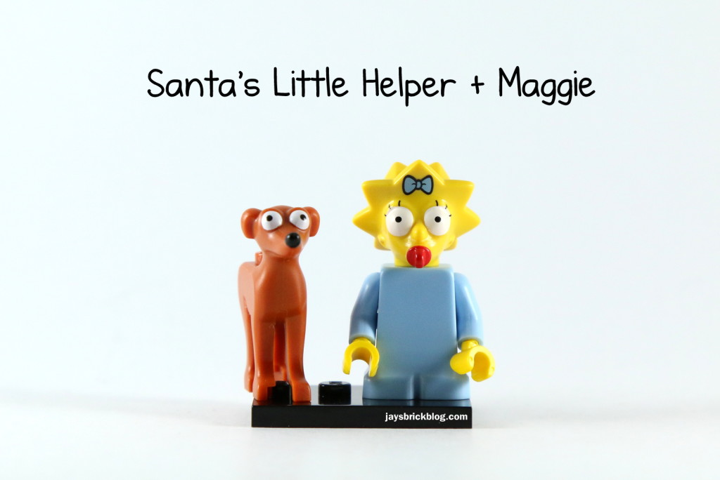 LEGO Simpsons Series 2 - Maggie Simpson Minifigure Santa's Little Helper Dog