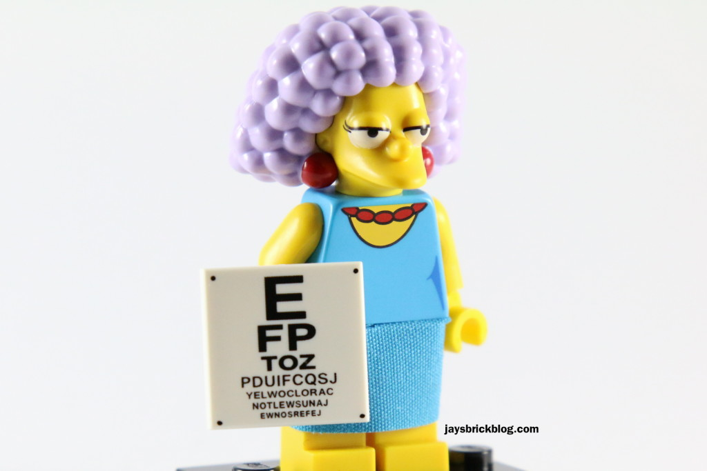 LEGO Simpsons Series 2 - Selma Eye Chart Tile