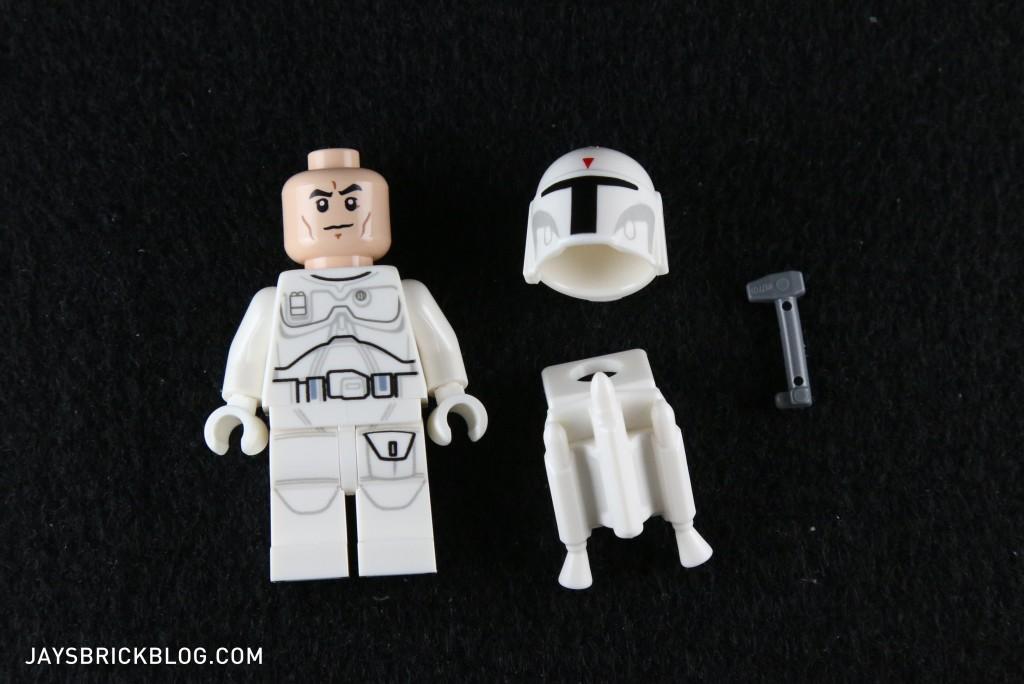 White Boba Fett 2015 Minifigure Components