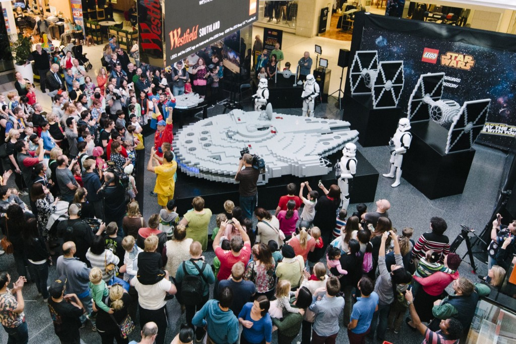 World's largest LEGO Millenium Falcon_crowd shot 2