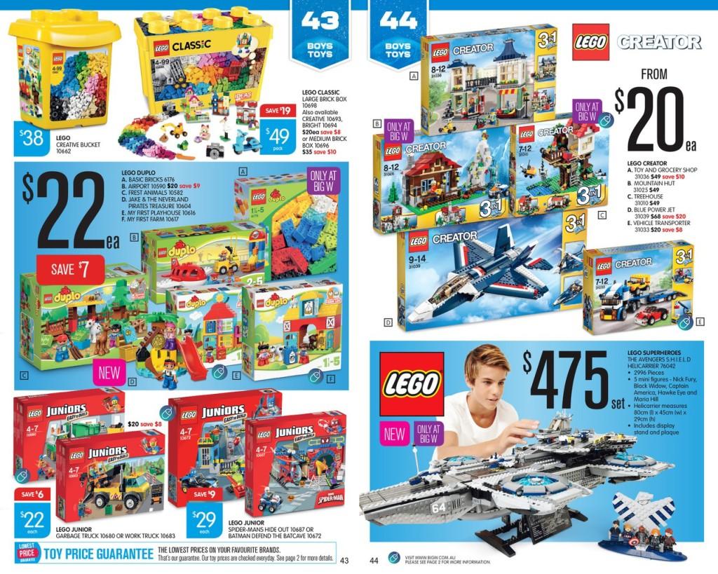 Big W Toy Sale 2015 LEGO Catalogue Deals 1