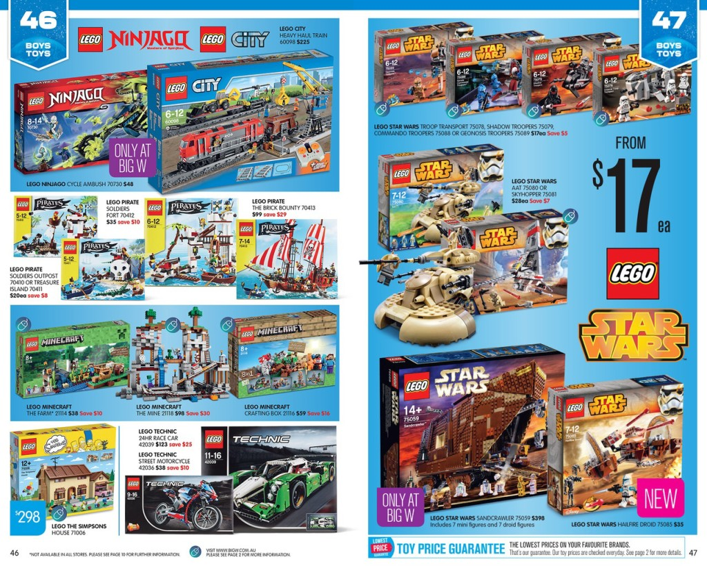 Big W Toy Sale 2015 LEGO Catalogue Deals 3