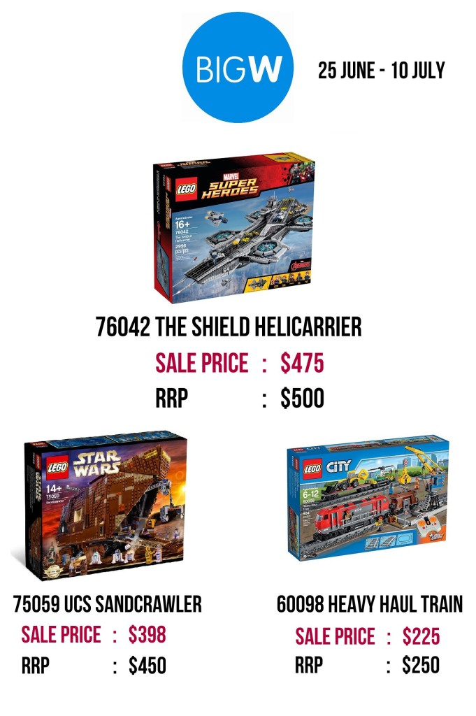 Big W Toy Sale 2015 LEGO Exclusives