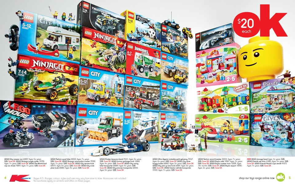 Kmart Toy Sale 2015 LEGO Deals 1