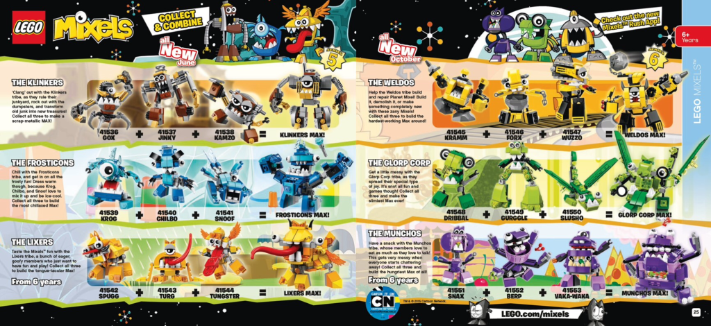 LEGO 3D Catalogue 2nd half of 2015 - Mixels