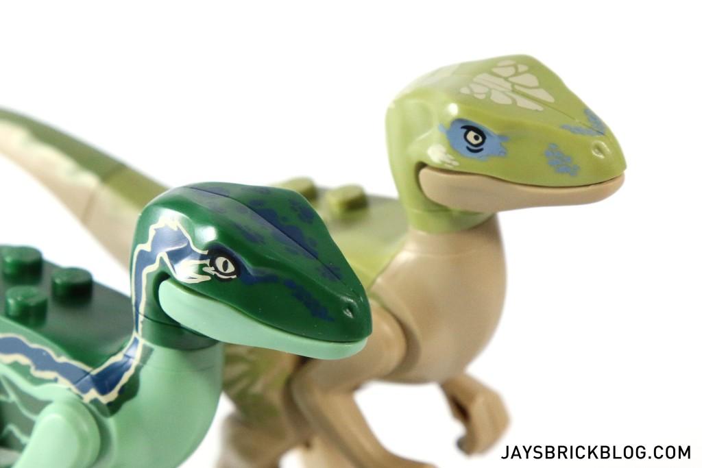 LEGO 75917 Raptor Rampage - Velociraptor Heads