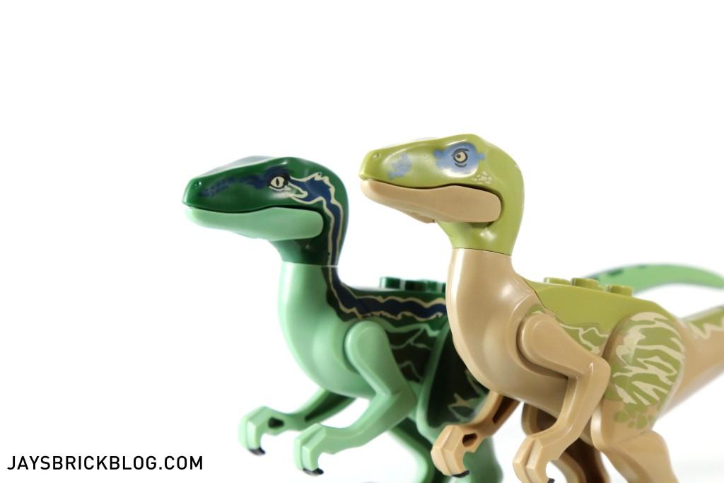 LEGO 75917 Raptor Rampage - Velociraptor Skin Details`