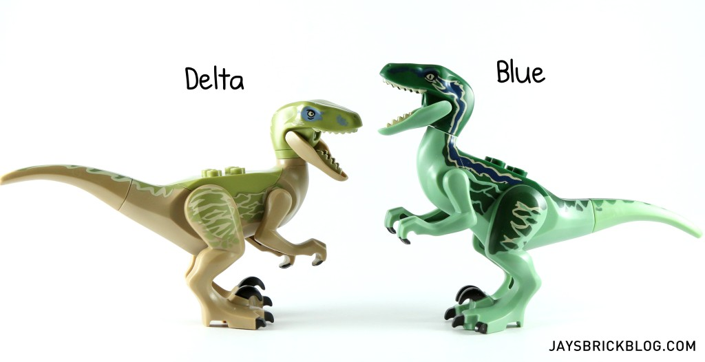 LEGO 75917 Raptor Rampage - Velociraptors Delta and Blue