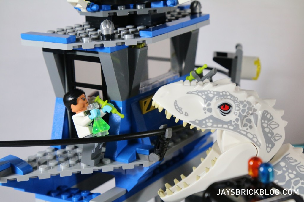 LEGO 75919 Indominus Rex Breakout - I-Rex attacking tower