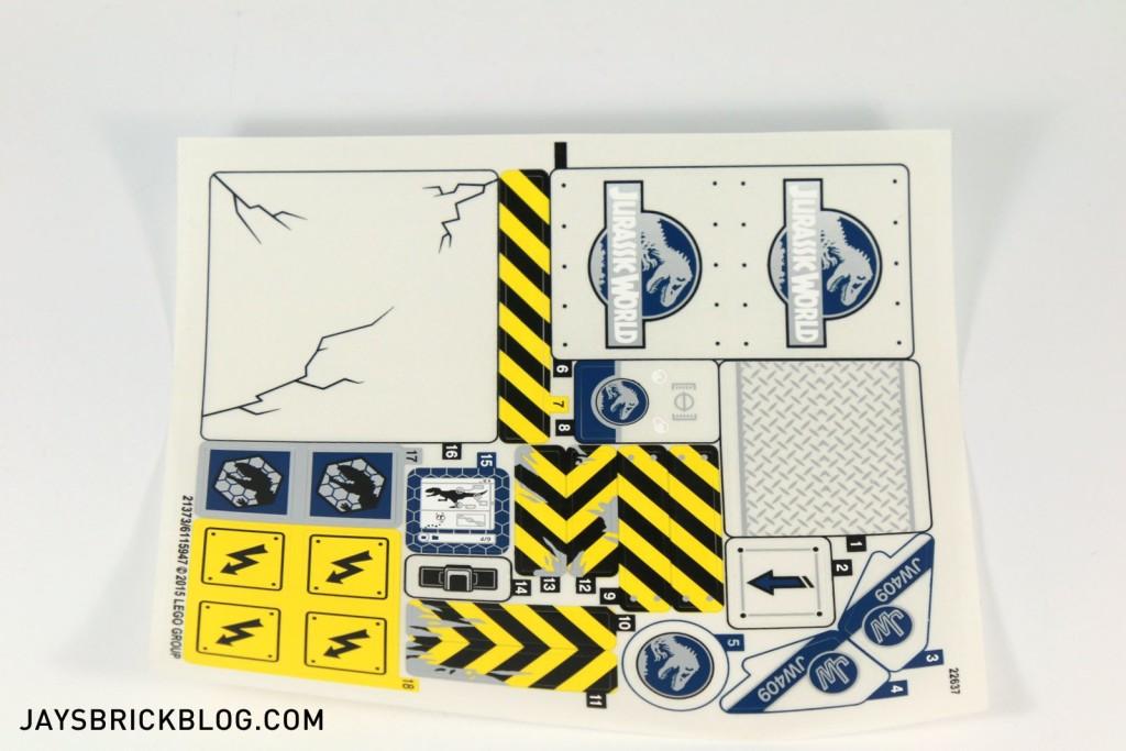 LEGO 75919 Indominus Rex Breakout - Sticker Sheet