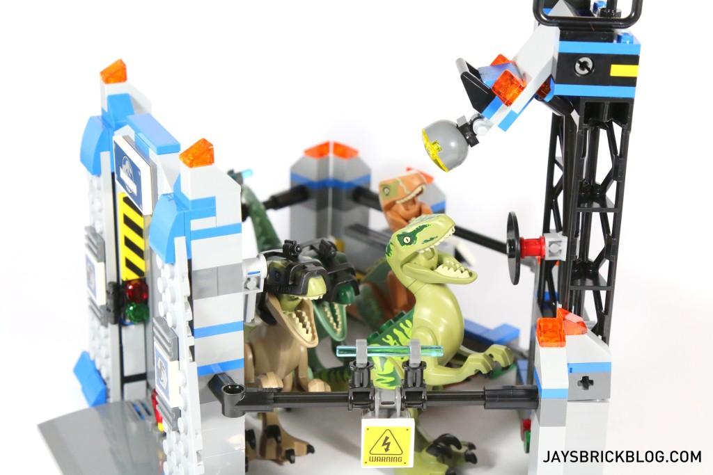 LEGO 75920 Raptor Escape - All Four Velociraptors in Pen