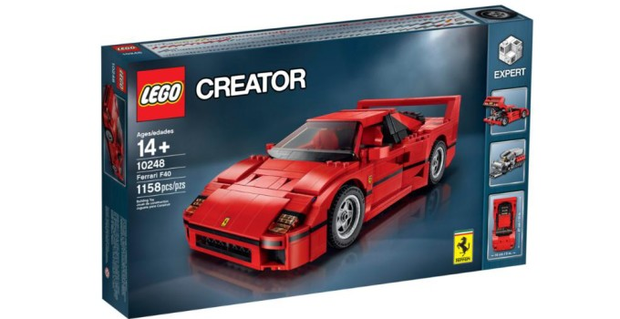 First look at the sexy new 10248 LEGO Ferrari F40