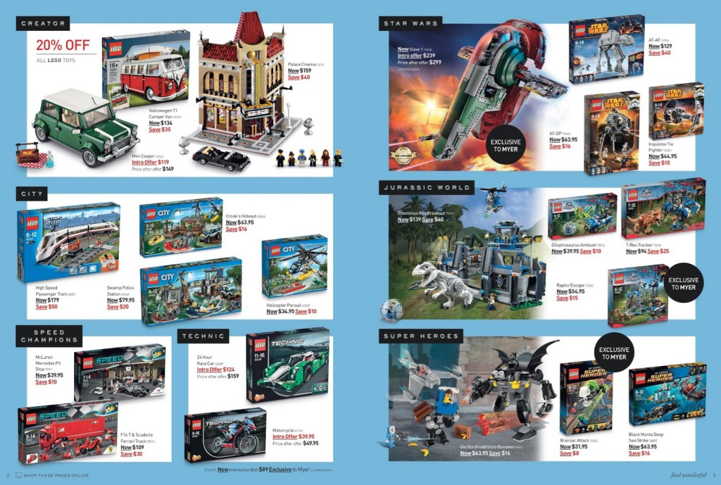 Myer Mid Year Toy Sale 2015 LEGO Deals