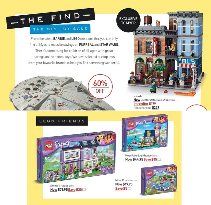 Myer Mid Year Toy Sale 2015 LEGO Detective's Office