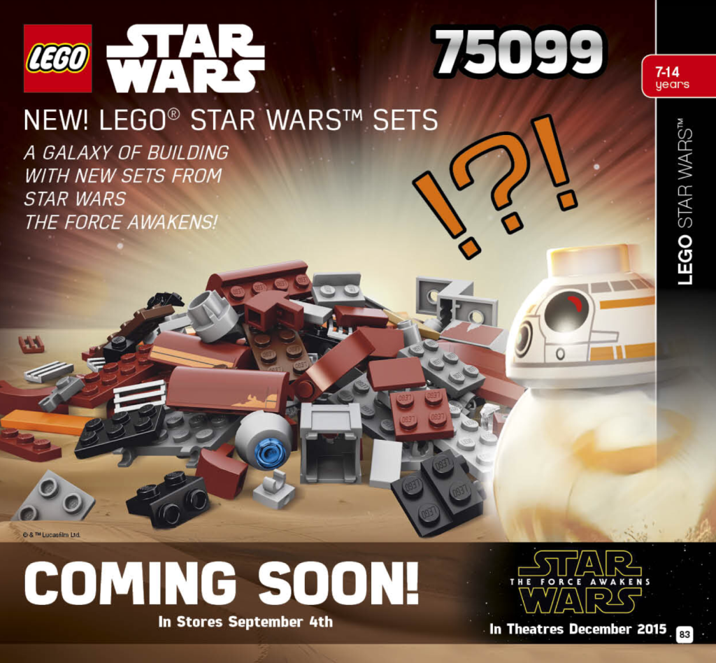 New LEGO Star Wars Force Awakens Release Date