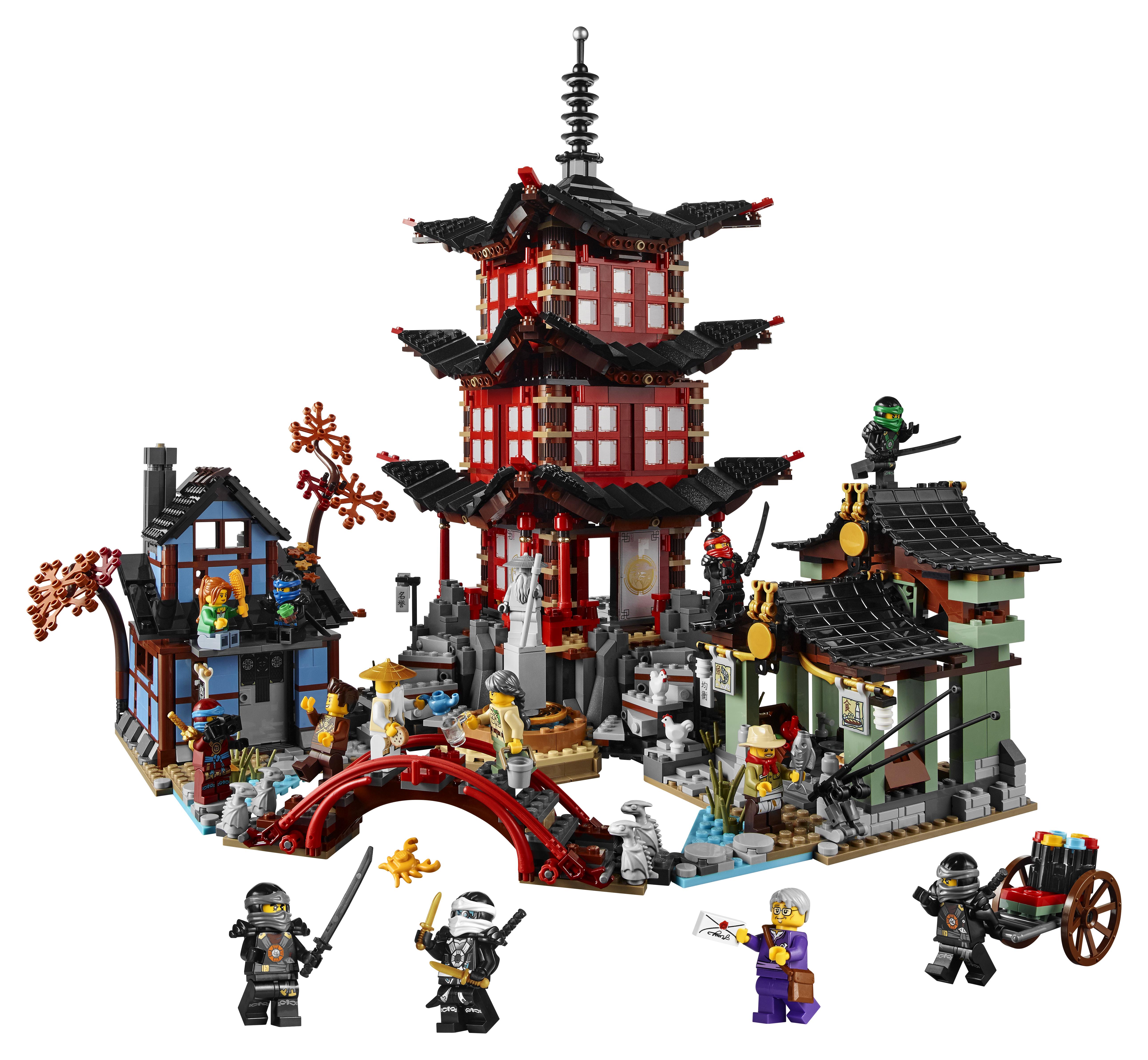 Lego unveils stunning ninjago temple of airjitzu set - Modele construction maison lego ...